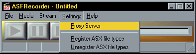 ASFRecorder proxy support